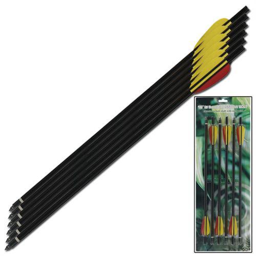 Extra Survival Aluminum Arrow Black 16 Inch 6pcs Set