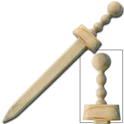 Medieval Wooden Roman Gladius Practice Waster Sword Combo Set
