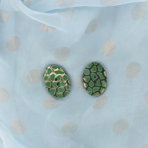 Horn Turtle Back Handmade Button Set