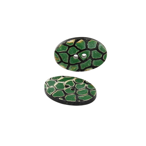 Horn Turtle Back Handmade Button Set