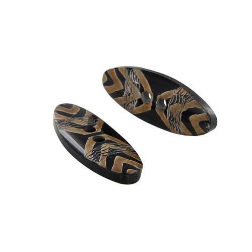 Hand Carved Horn Tribal Delight Button Set