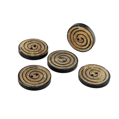 Horn Handmade Creative Energies Button Set