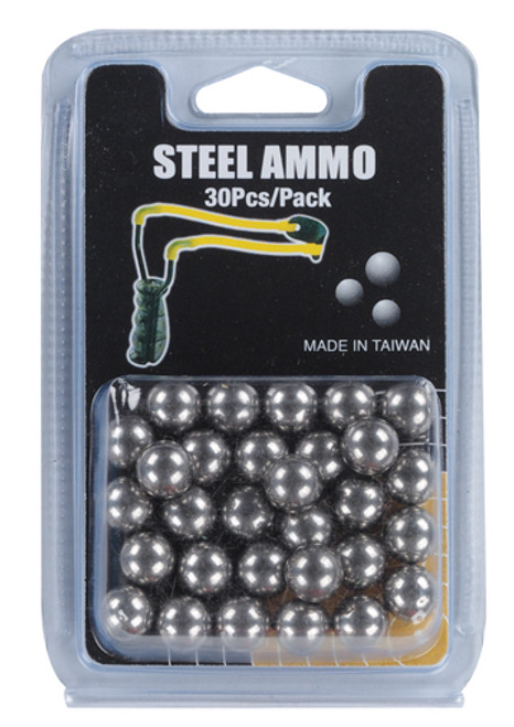 Slingshot 30 Piece 3-8 Inch Steel Ball Ammunition