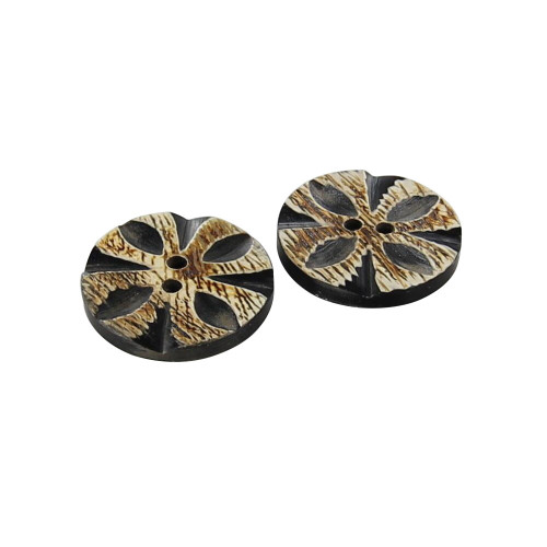 Sweet Jasmine Hand Carved Button Set