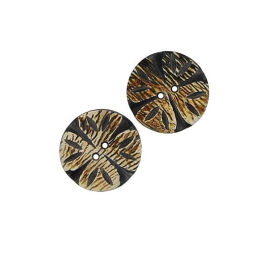 Set of 2 Fallen Lily Horn Buttons