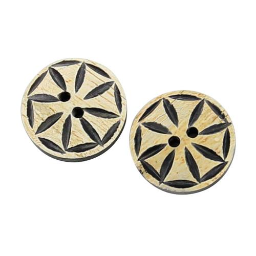 Artisan Handmade Shield Button Set