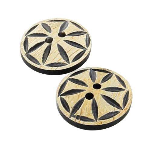 Artisan Handmade Shield Button Set