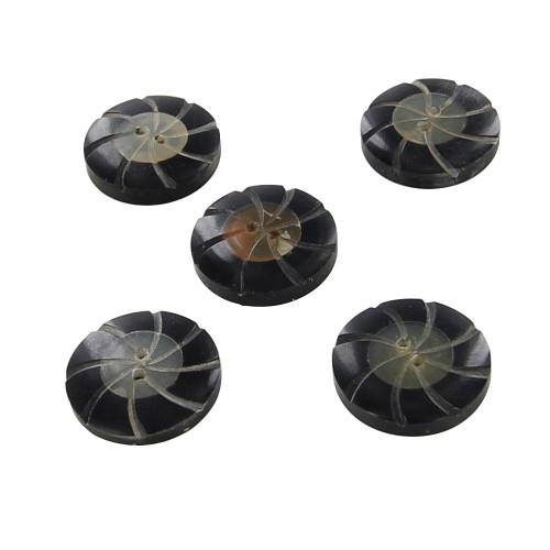 Handmade Horn Pinwheel Fashion Button Set