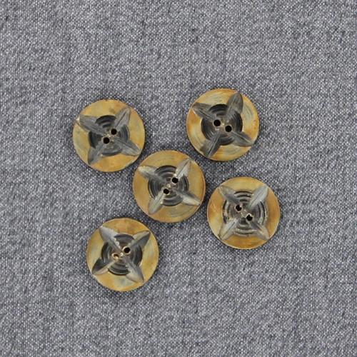 Horn Compass Rose Button Set