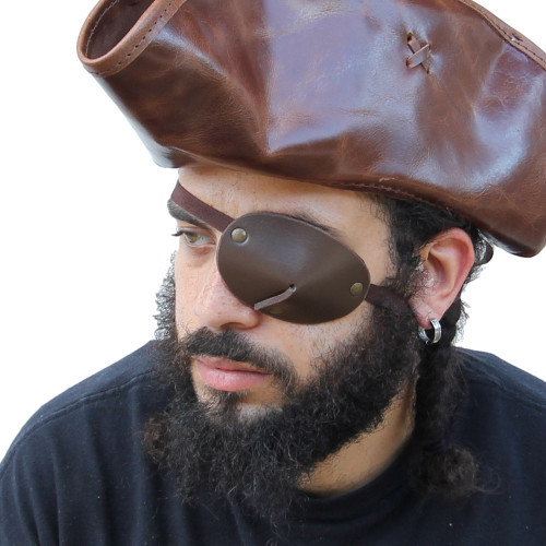 Pirate Handmade Leather Old Salt Eye Patch