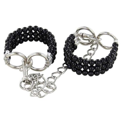 Novelty Beaded Silent Affair Wrist Cuffs