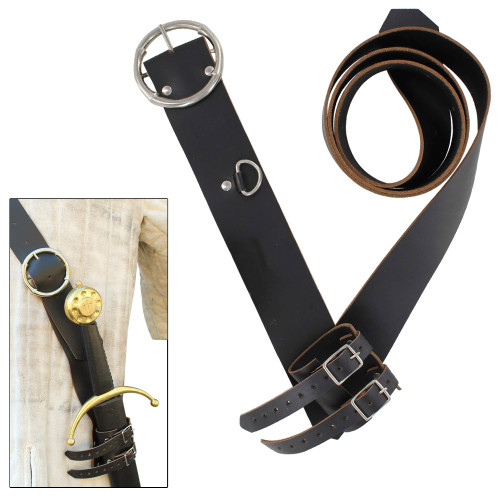 Ready For War Leather Sword Belt