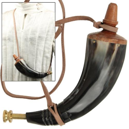 Colonial Powder Horn w- Brass Screw