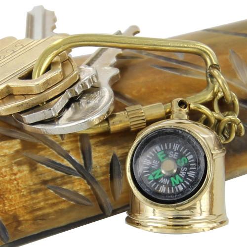 Nautical Helmet Mariner Compass Keychain