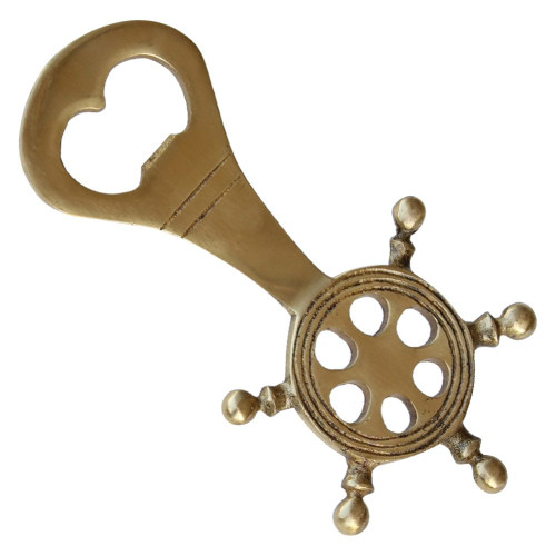 Pirate Ships Wheel Genuine Brass Bottle Opener
