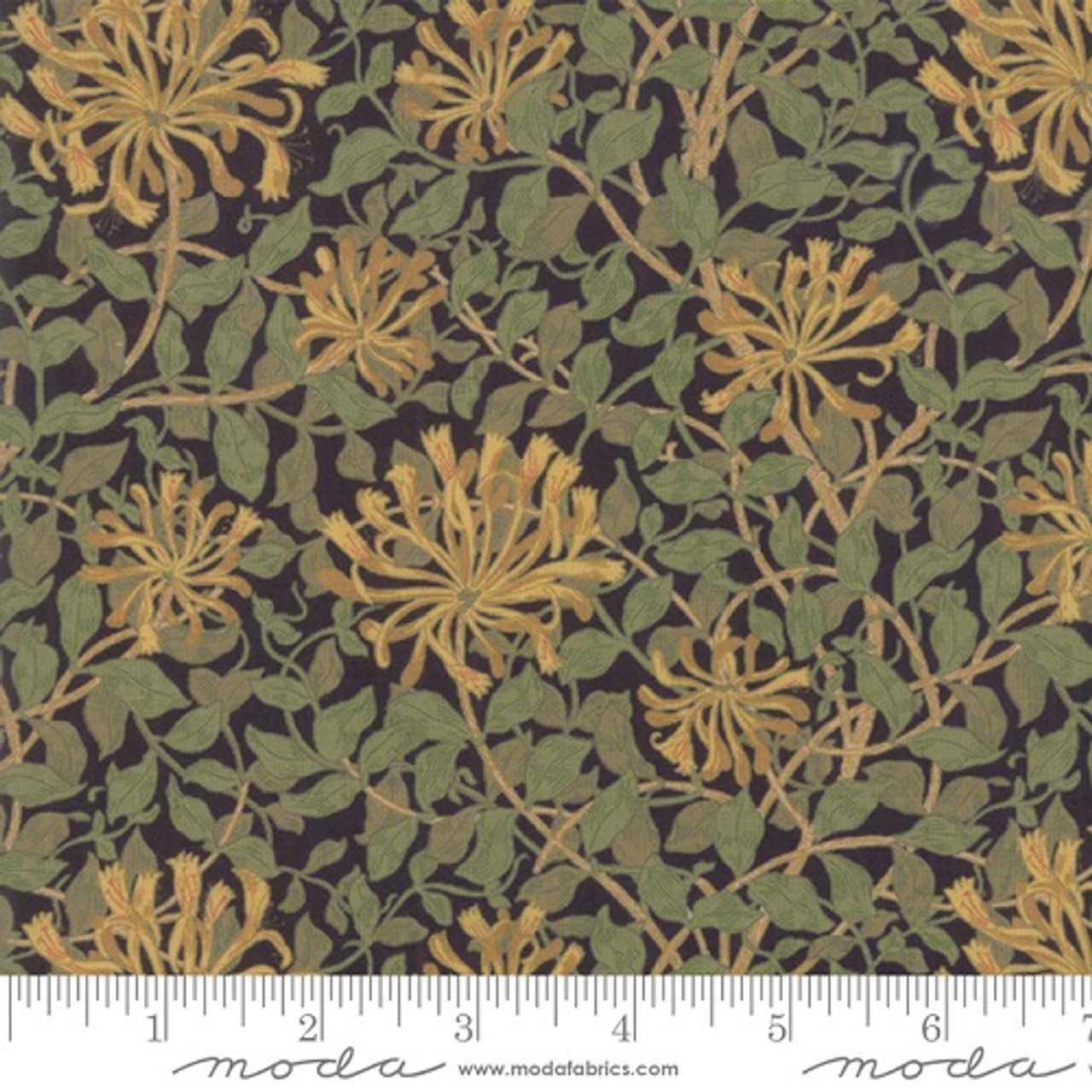 Vintage Shabby Cottage Paisley Roses Cotton Twill Fabric ~Olive Wine Gray Blue