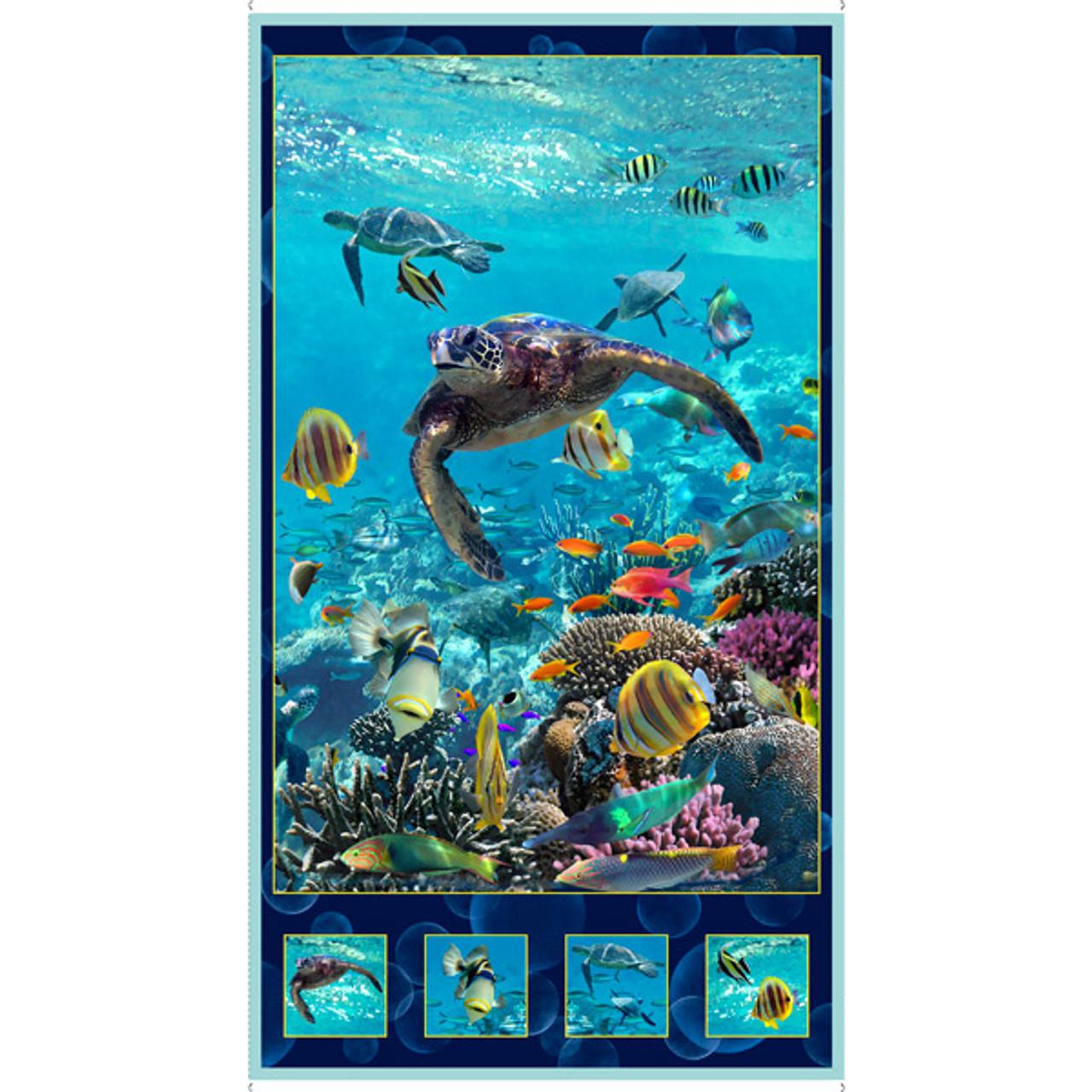 Quilting Treasures Artworks Xvi 24 Panel Turquoise Lancaster Home Fabric