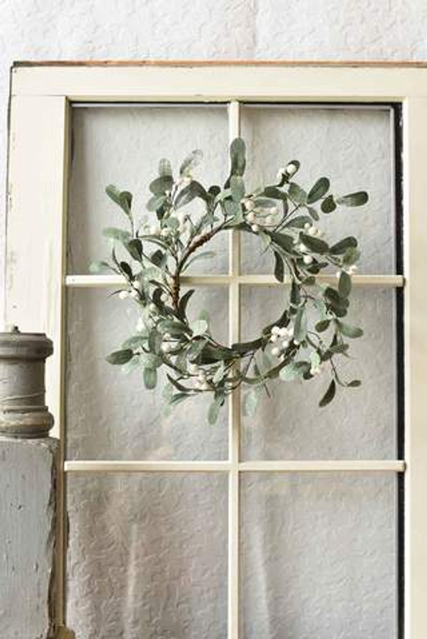 Candle Ring Snowberry Mistletoe 6 5 Lancaster Home Fabric