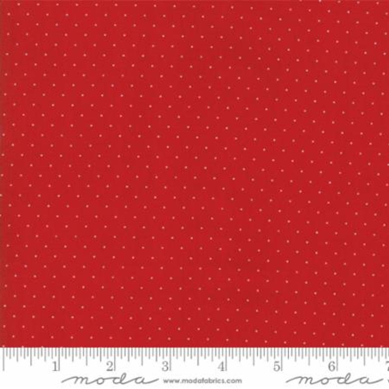 Sorbet Essentials BTY Quilting Treasures Tonal Red Polka Dots on White