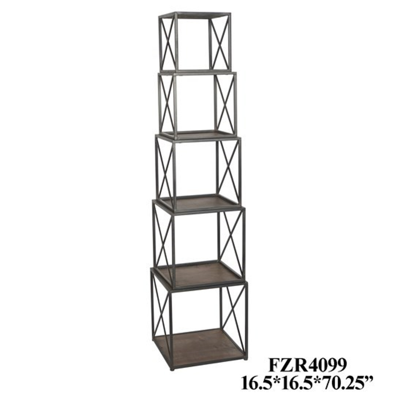 Etagere Stackable Etagere Metal Wood Lancaster Home Fabric
