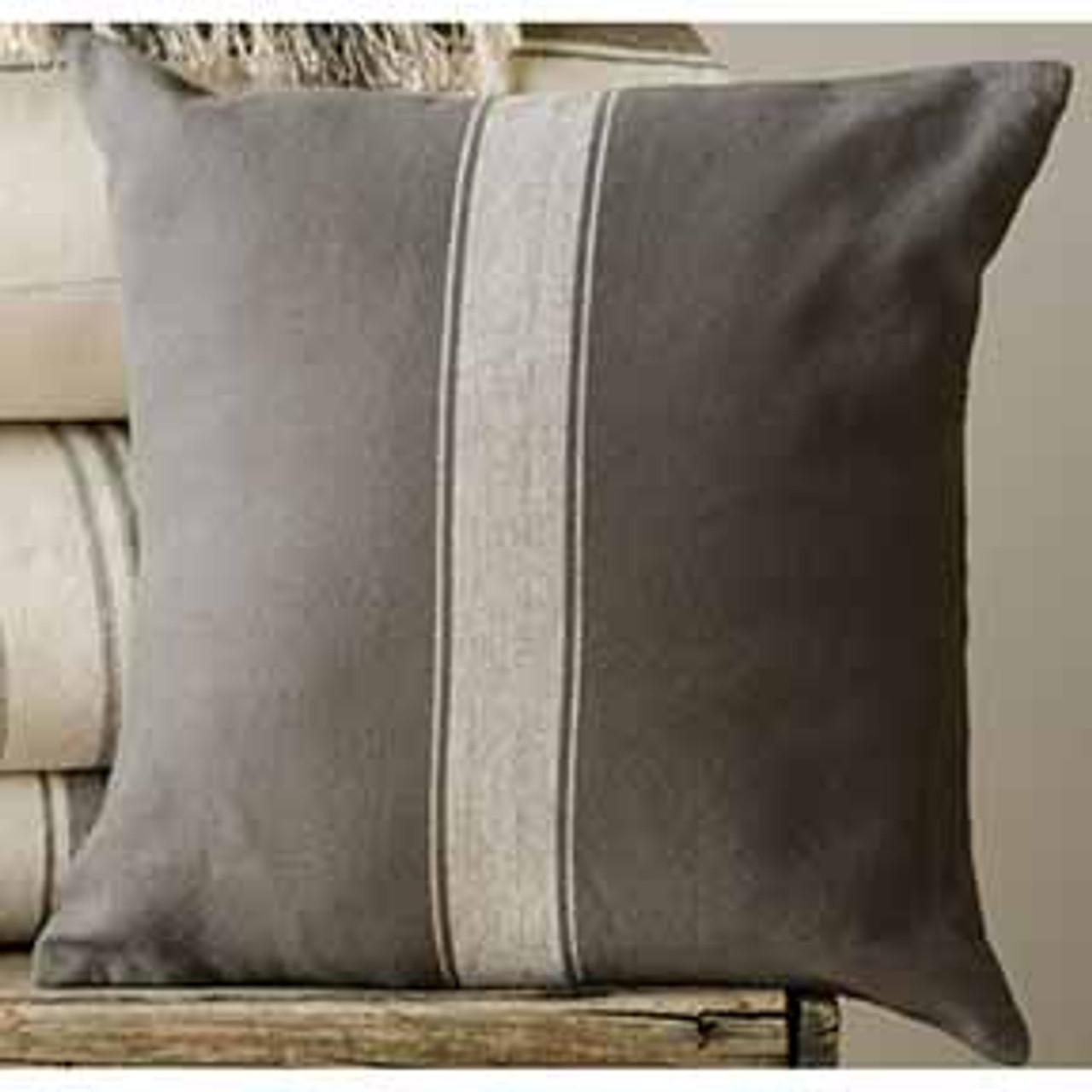 Grain Sack Pillow Cover Square Lancaster Home Fabric