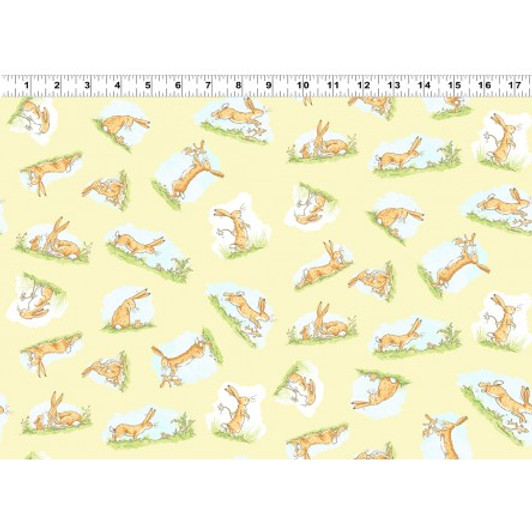 Clothworks Guess How Much I Love 3 Light Sky 100/% coton Y2111-97