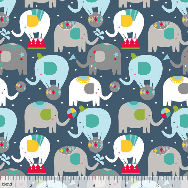 Blend Fabrics Piccadilly Balancing Act Navy Lancaster Home Fabric
