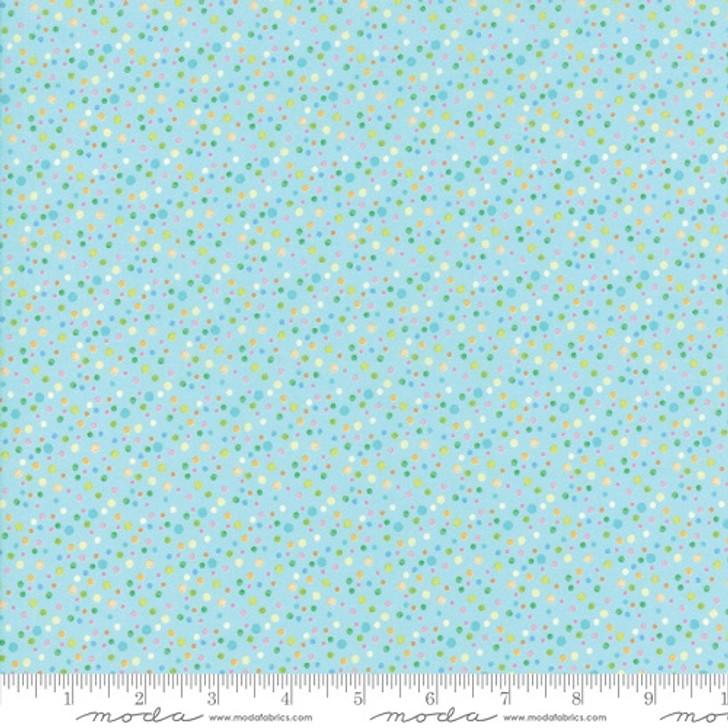 Kenzie Aqua Polka Dot
