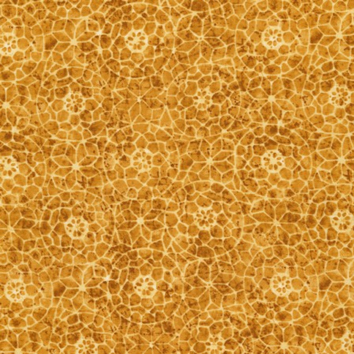 Timeless Treasures Tapestry Mosaic Gold Lancaster Home Fabric