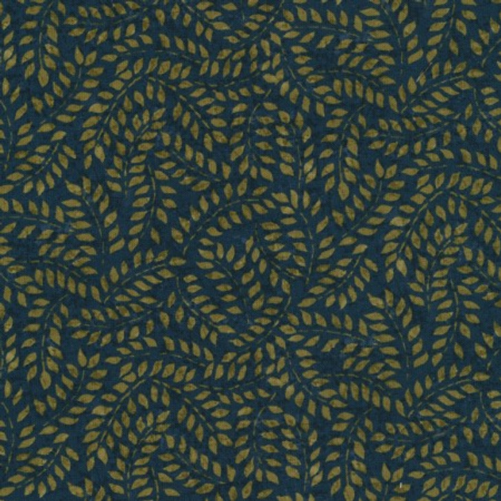 Timeless Treasures Tapestry Leaves Ink Lancaster Home Fabric