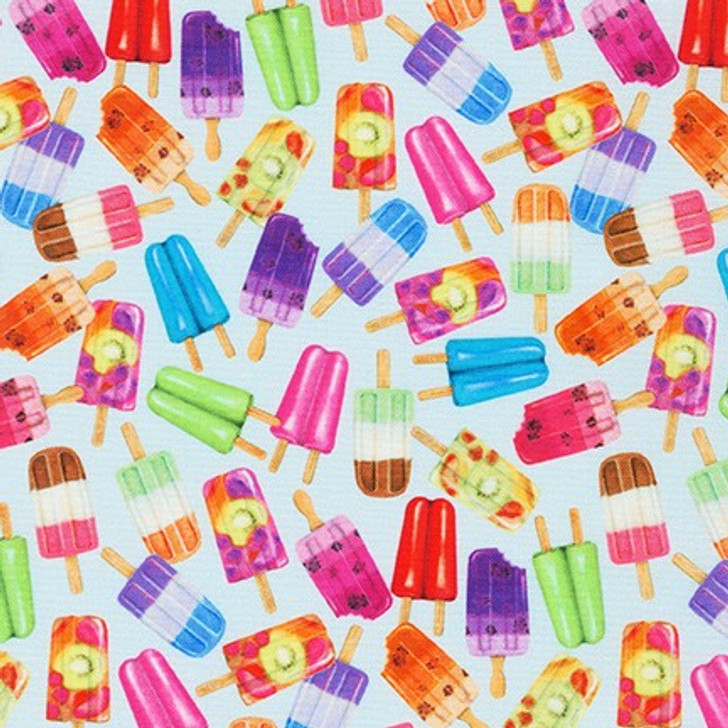 Robert Kaufman - Sweet Tooth - Small Popsicles, Blueberry