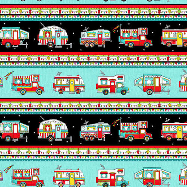 Studio E - Roamin Holiday - Camper Border Stripe, Multi