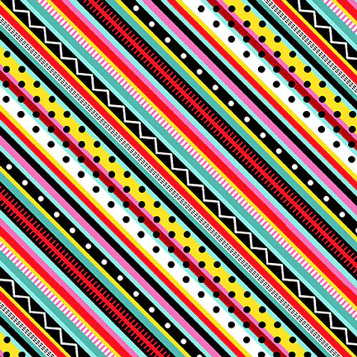 Studio E - Roamin Holiday - Diagonal Stripe, Multi