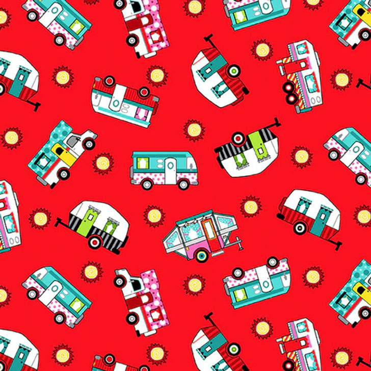 Studio E - Roamin Holiday - Tossed Campers, Red