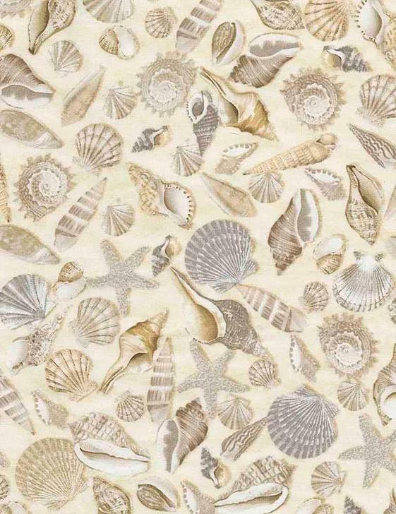 Timeless Treasures - Beach - Welcome to The Beach - Shells, Sand