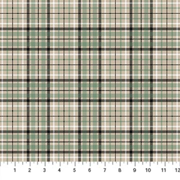 Northcott - Frosted Forest Flannel - Light Plaid, Beige