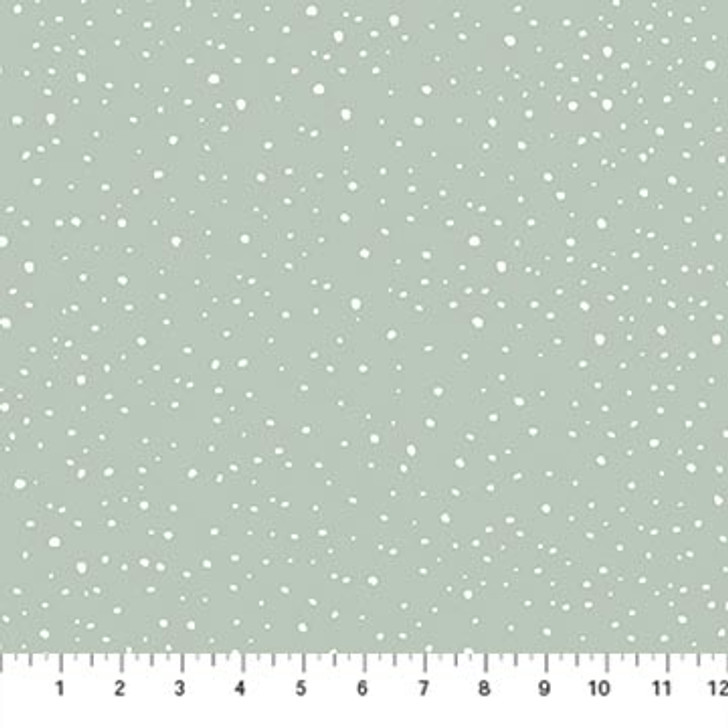Northcott - Frosted Forest Flannel - Snowy Blender, Sage
