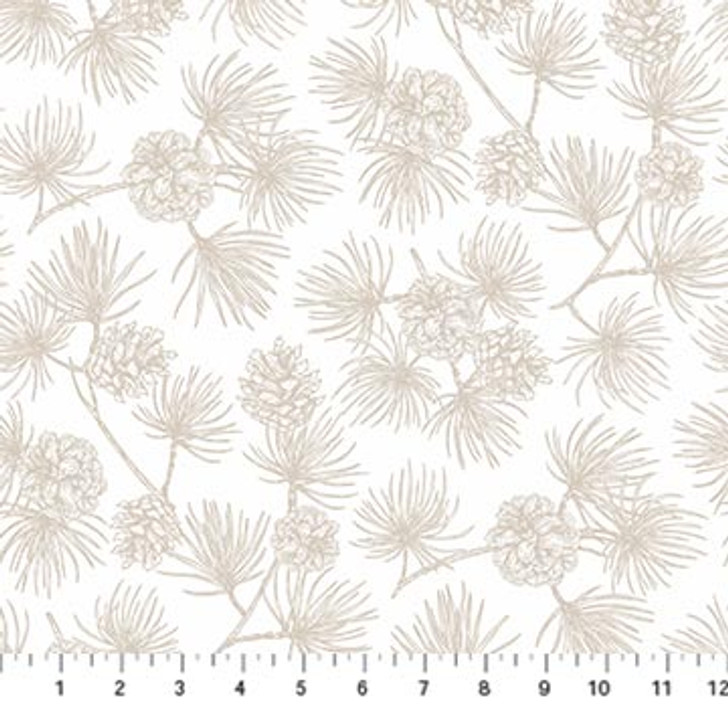 Northcott - Frosted Forest Flannel - Pine Toile, Cream
