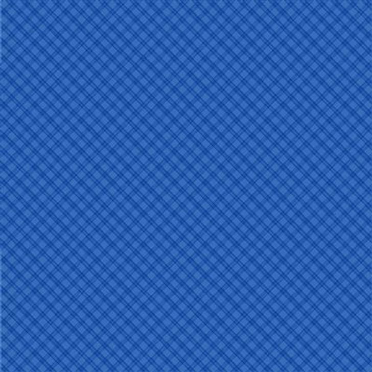 Clothworks - Snowville - Plaid, Lt Royal Blue