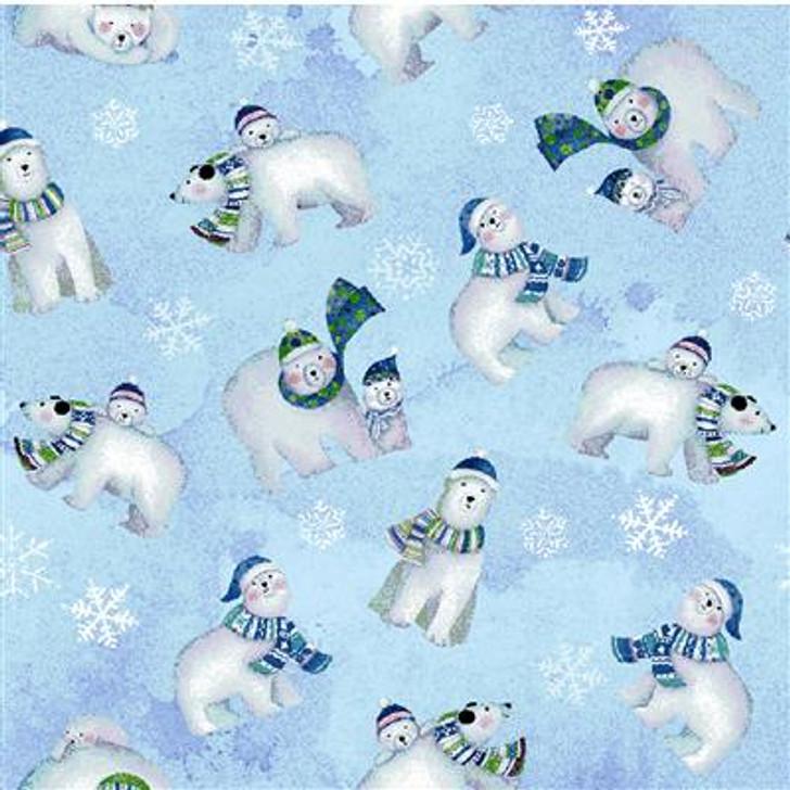 Clothworks - Snowville - Polar Bears, Lt Blue