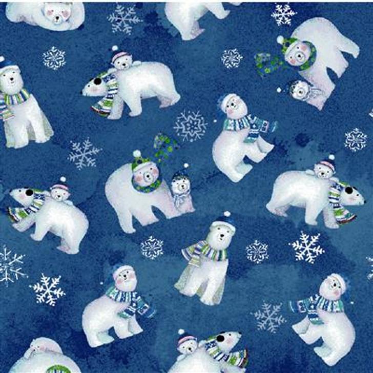 Clothworks - Snowville - Polar Bears, Lt Navy