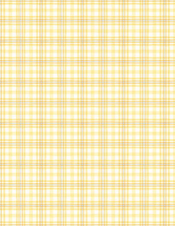 Wilmington Prints - Fields of Gold - Plaid, White/Yellow