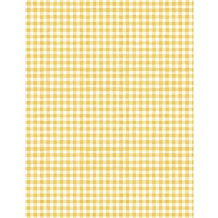 Wilmington Prints - Fields of Gold - Gingham, White/Yellow