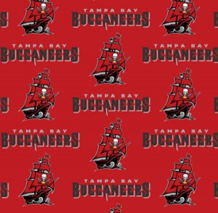 Fabric Traditions - NFL - Tampa Bay Buccaneers, Red