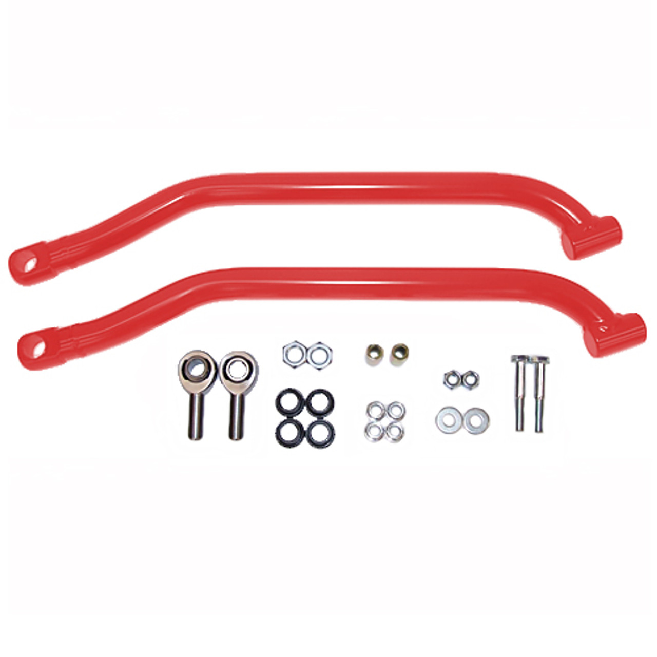 2014-17 Polaris RZR  1000 lower Max Clearance Radius Rod Bar Kit red