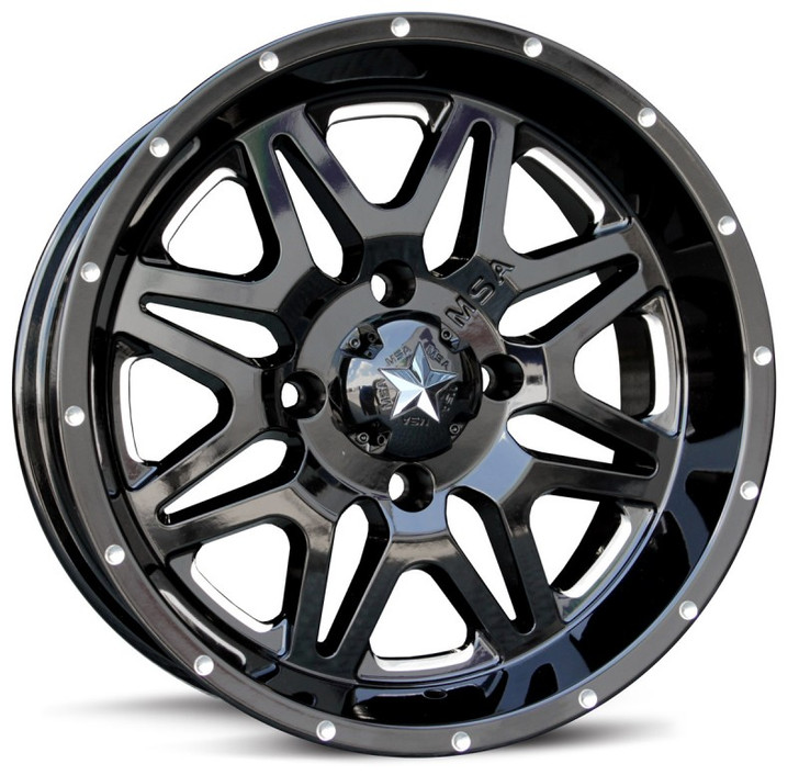 "16"" MSA M26 Vibe Wheels - Black"