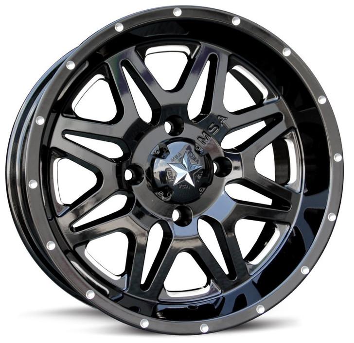 "18"" MSA M26 Vibe Wheels - Black"