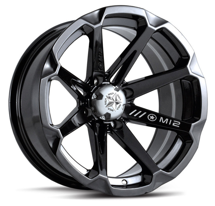 "15"" MSA M12 Diesel Wheels - Black"