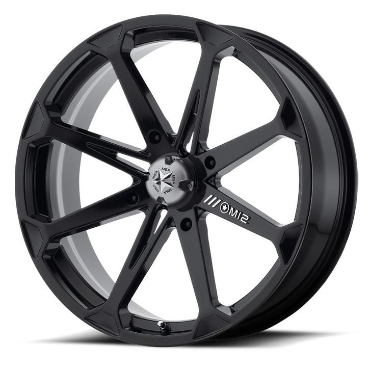"""20"""" MSA M12 Diesel Wheels - Black"""