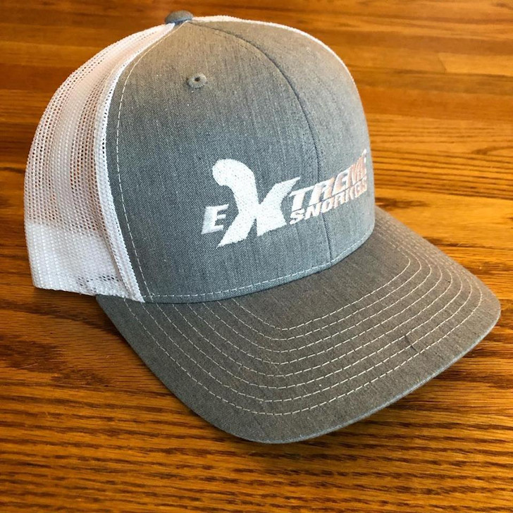 Extreme Snorkels Snapback Hat - Heather Grey/White